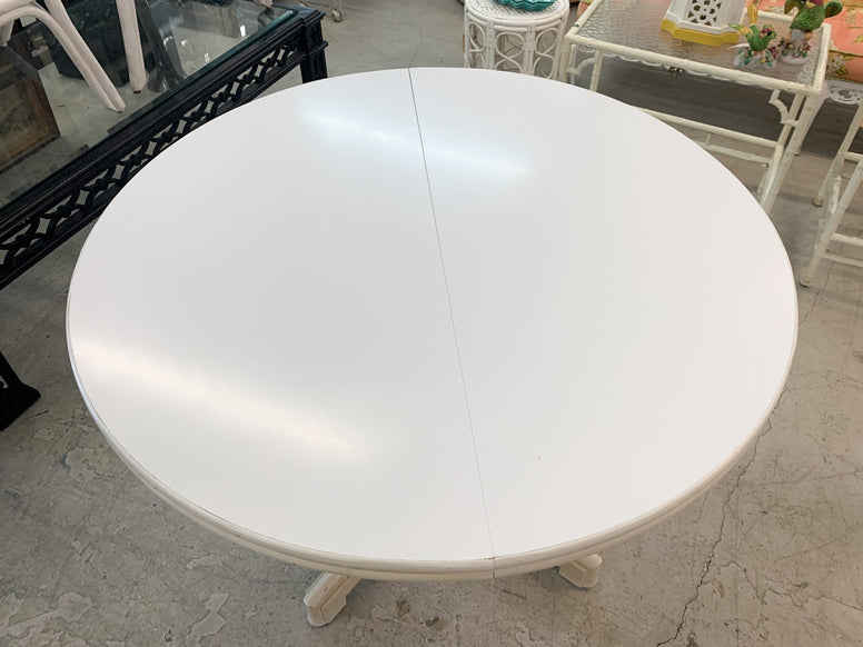 Faux Bamboo Round Breakfast Table