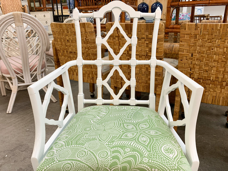 Pair of Moroccan Fretwork Arm Chair