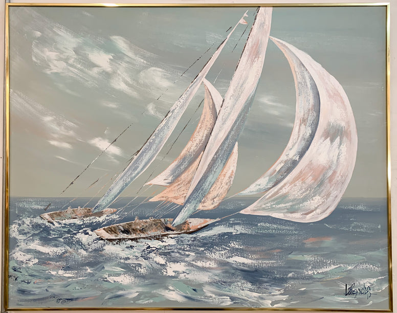 Lee Reynolds Signed Sailboat Painting