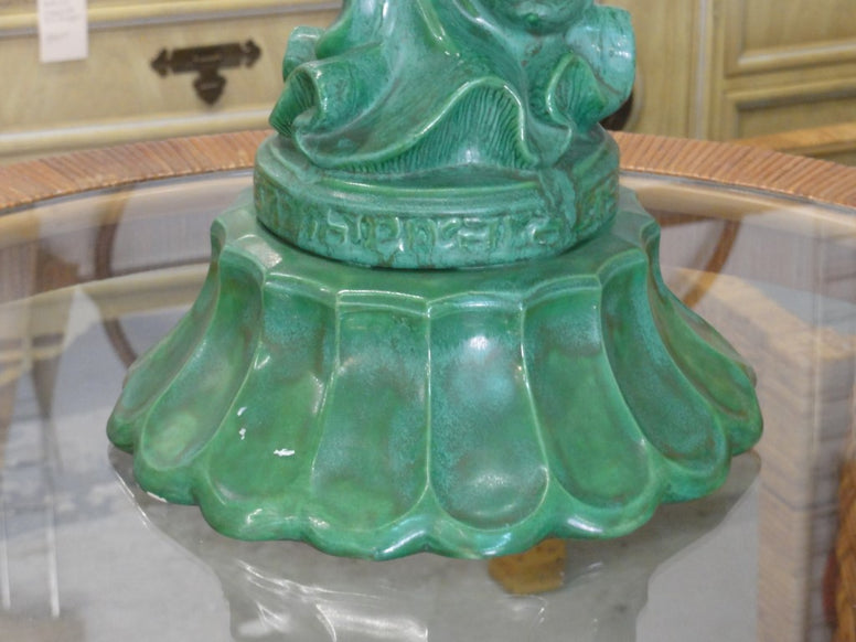 Emerald Green Glazed Asian Lady