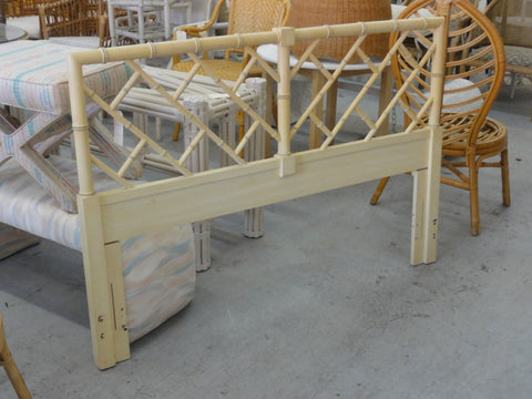 Faux Bamboo Chippendale Queen Headboard