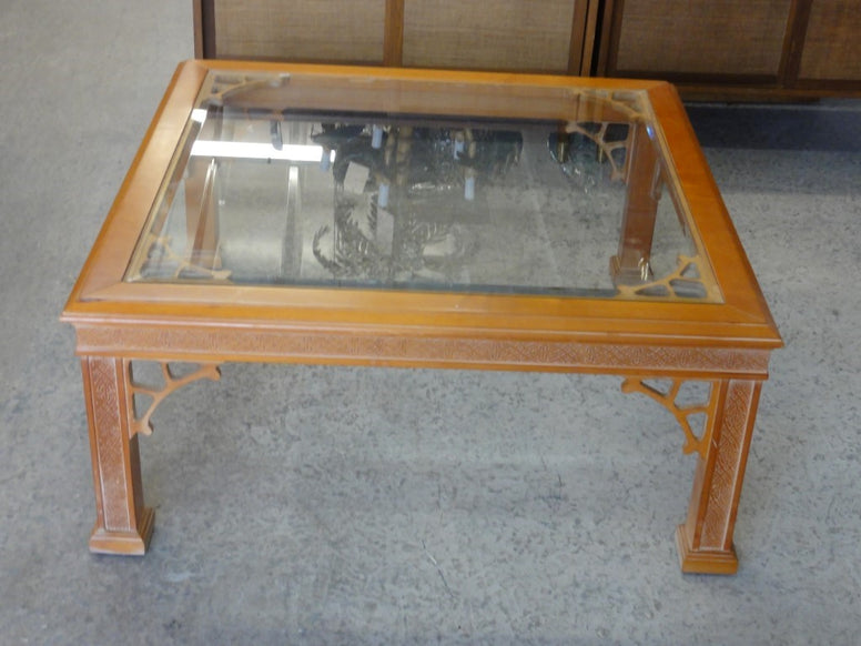 Vintage Fretwork Coffee Table