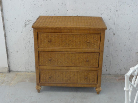 Island Style Woven Rattan Bachelor Chest