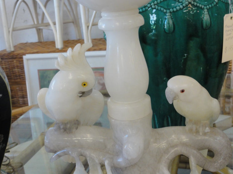 Charming Onyx Cockatoo & Parrot Lamp