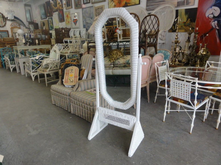 Cheval Wicker  Full Length Mirror