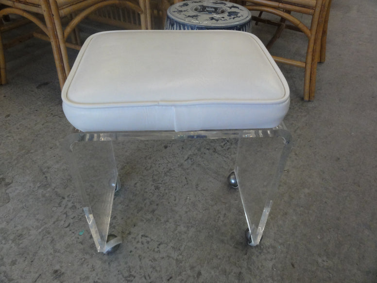 Waterfall Lucite Bench