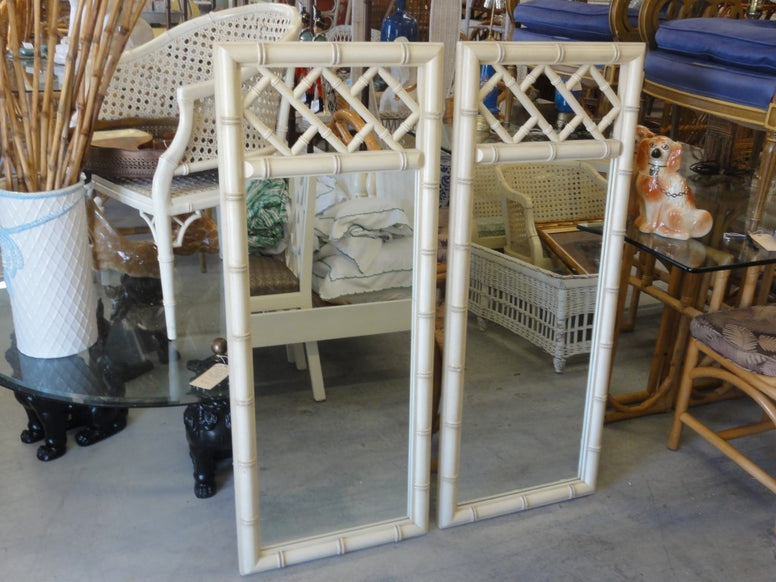 Pair of Faux Bamboo Chippendale Mirrors