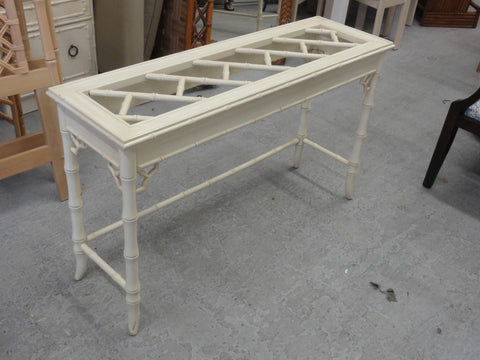 Palm Beach Faux Bamboo Chippendale Console