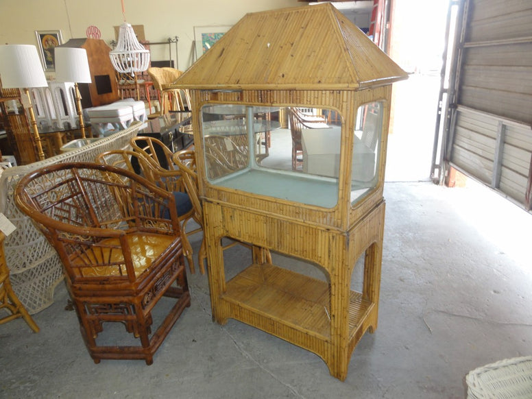 Tiki Hut Bamboo Fish Tank