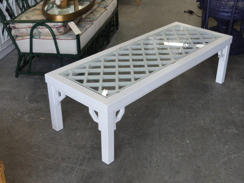 Palm Beach Lattice Fretwork Coffee Table