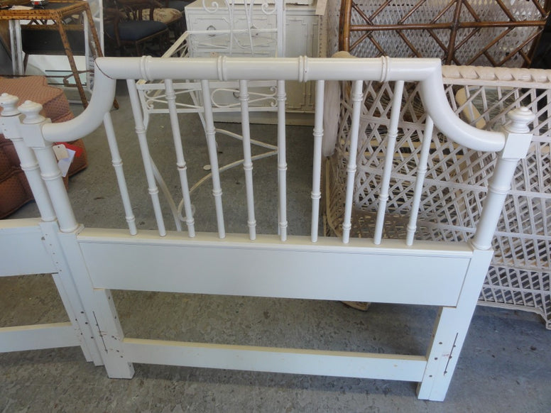 Pair of Twin Pagoda Headboards