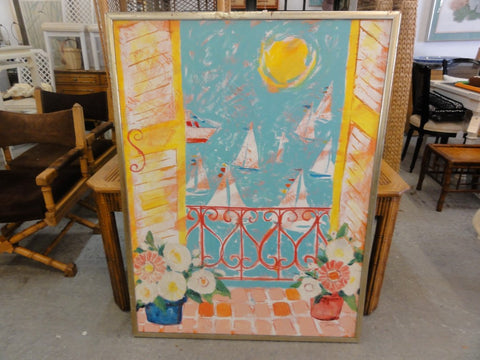 Sailboat Painting Listed Artist Tircso