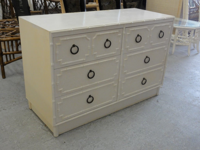 Palm Beach Faux Bamboo Double Dresser