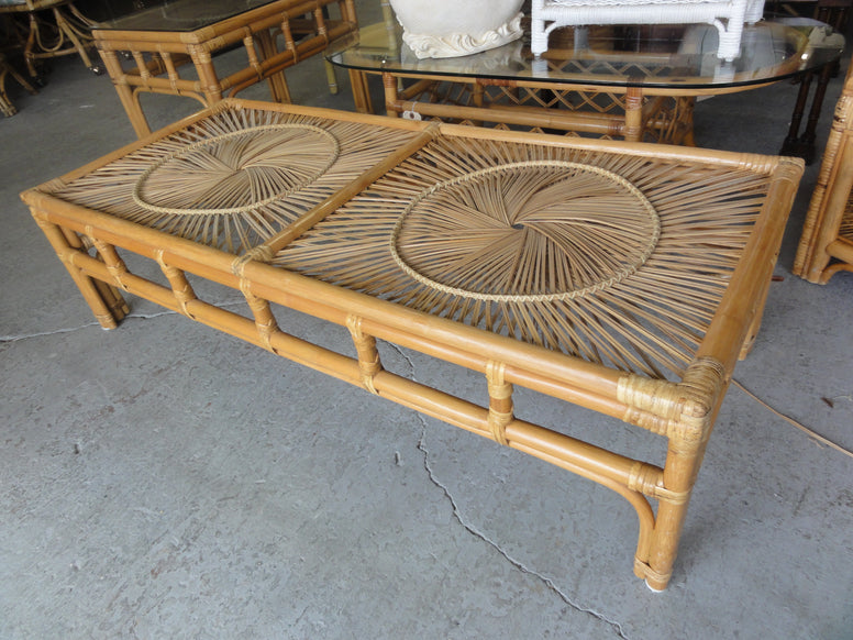 Rattan Medallion Coffee Table
