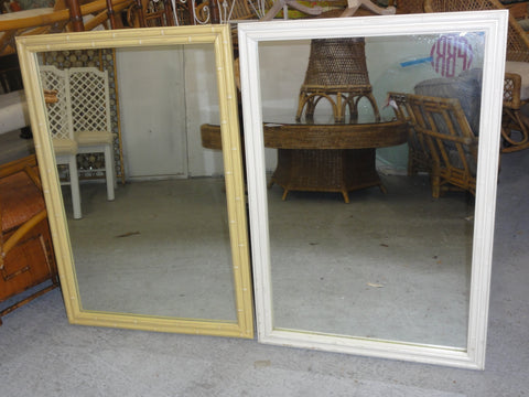 Set of Thomasville Faux Bamboo Mirrors