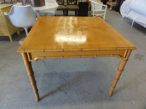 Thomasville Faux Bamboo Game Table