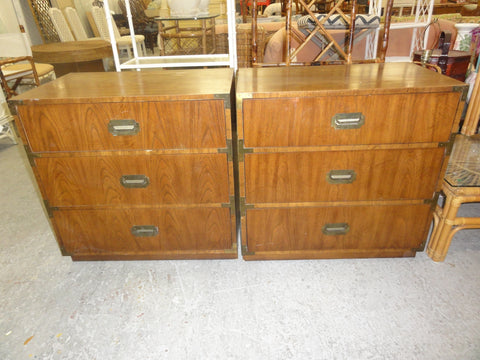 Pair of Oversized Campaign Chests