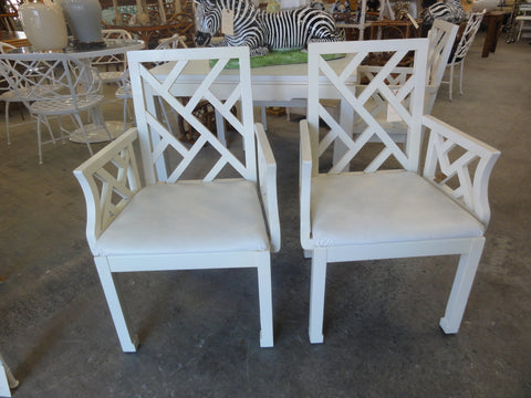 Pair of Chippendale Arm Chairs