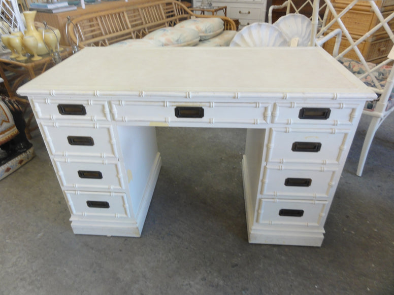 Faux Bamboo Campaign Style Sligh Desk