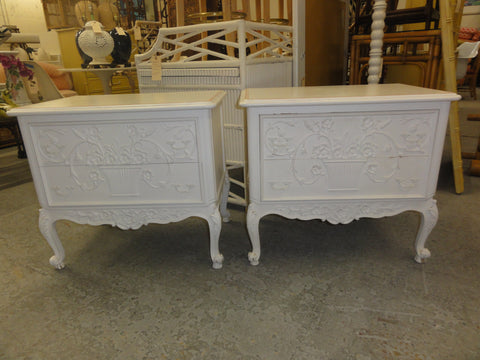 Pair of Dorothy Draper Style Nightstands