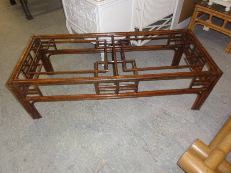 Bamboo Fretwork Coffee Table