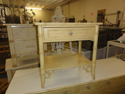 Thomasville Faux Bamboo Nightstand