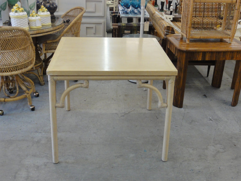Ficks Reed Rattan Game Table
