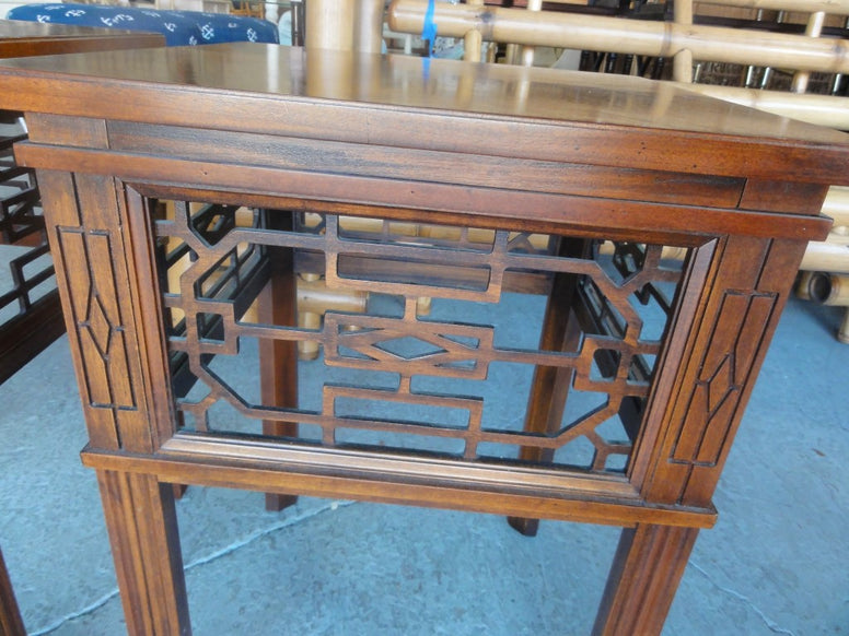 Petite Fretwork Hekman Side Tables