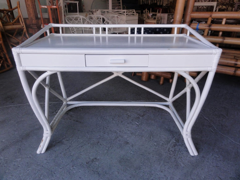 Lacquered Rattan Writing Desk