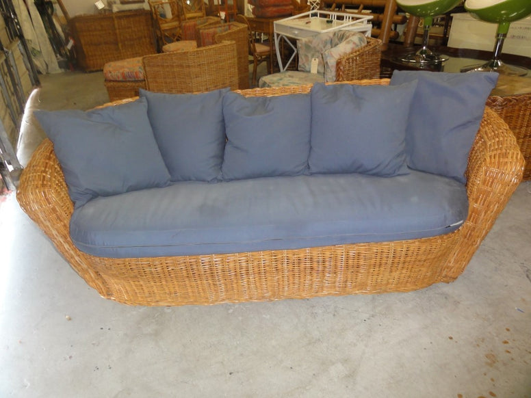 Wicker Works Style Sofa