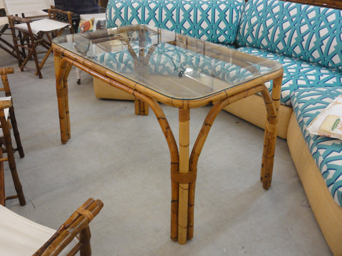 Old Florida Style Bamboo Dining Table