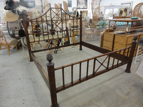 Handsome Island Style Rattan King Bed