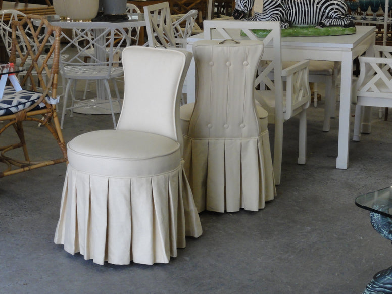 Frontgate Skirted Budoir Chairs