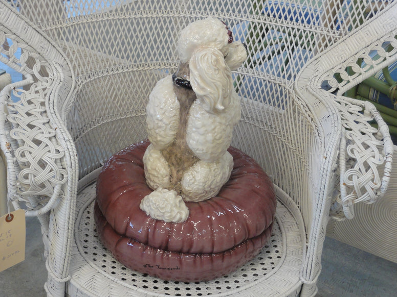 Adorable Poodle on Pillow by the Townsends