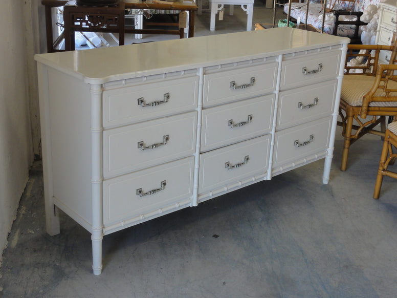 Palm Beach Style Faux Bamboo Dresser