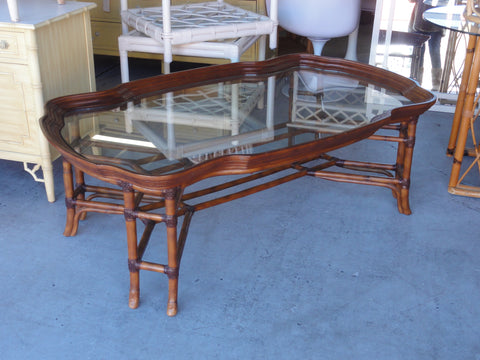 Handsome Rattan Tray Top Coffee Table