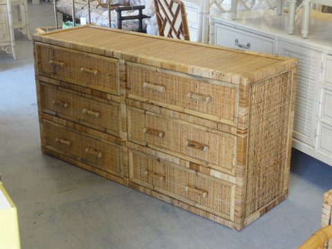 Island Style Rattan Wrapped Dresser