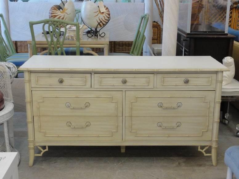 Palm Beach Chic Faux Bamboo Double Dresser