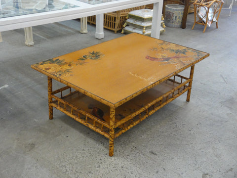 Tortoise Shell Bamboo Coffee Table