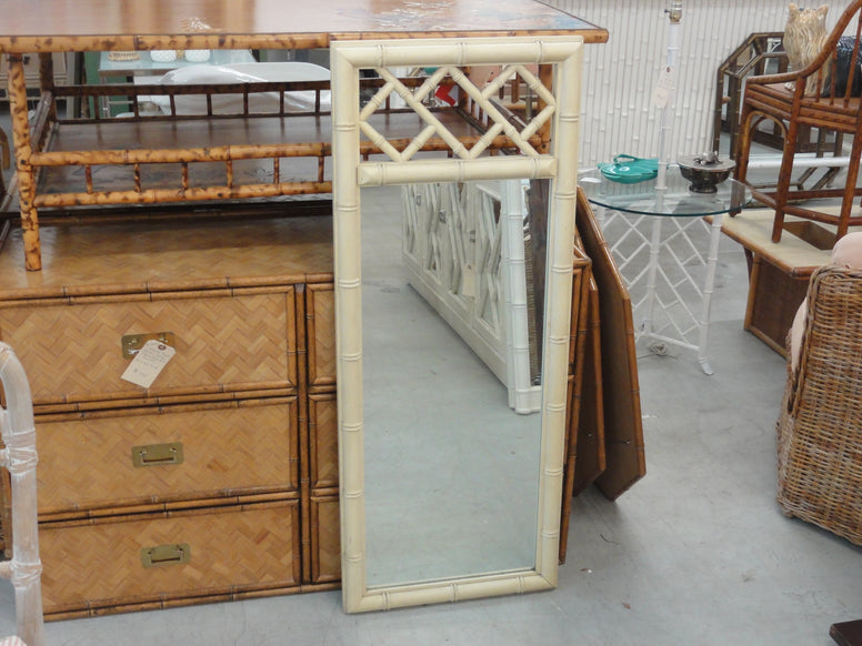 Faux Bamboo Chippendale Mirror