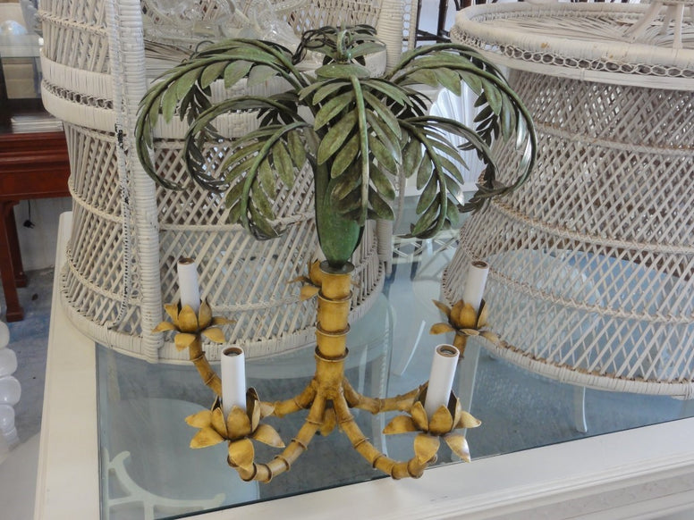 Curry & Company Palm Tree Chandelier