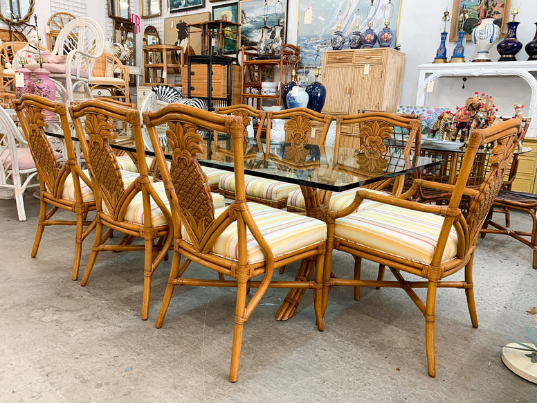 Island Chic Rattan Dining Table
