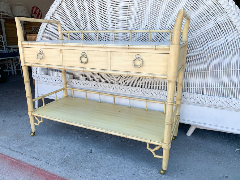 Thomasville Faux Bamboo Server on Casters