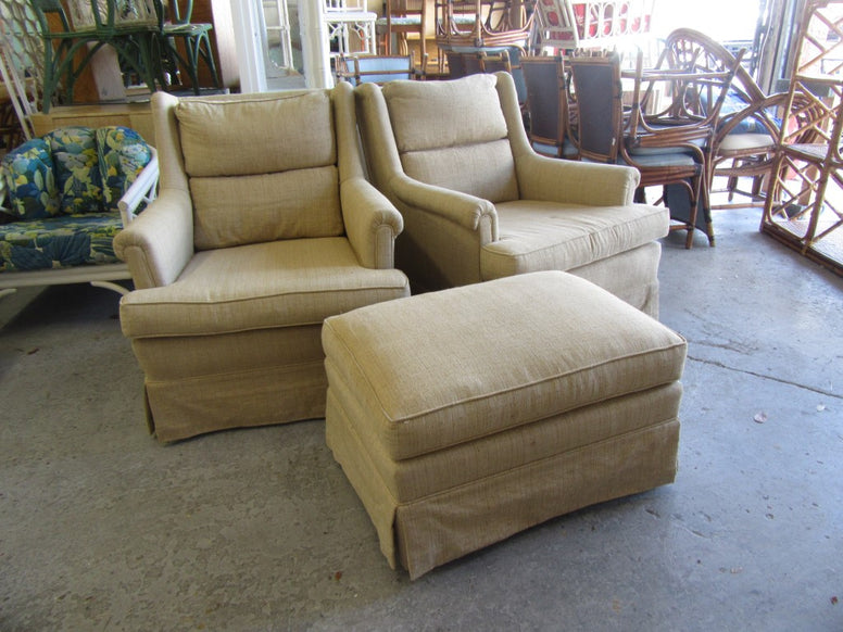 Pair of Chic Upholstered Benches