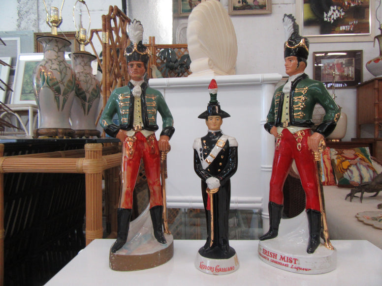 Set of 2 Soldier Liquor Decanters