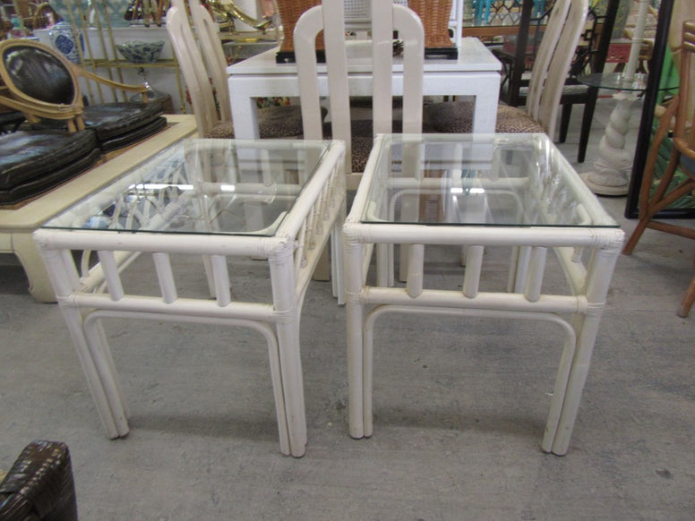 Pair of Ficks Reed Side Tables