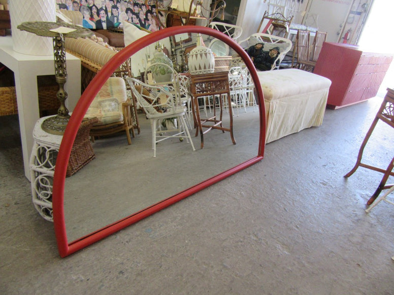 Large Thayer Coggin Rattan Mirror