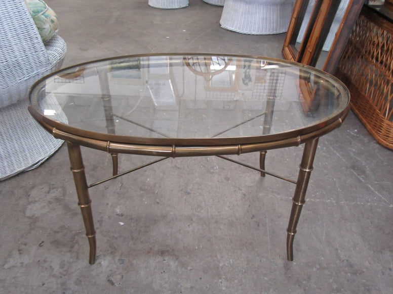 Petite Oval Faux Bamboo Table