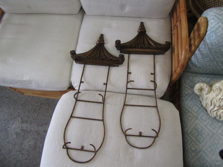 Pair of Pagoda Plate Holders