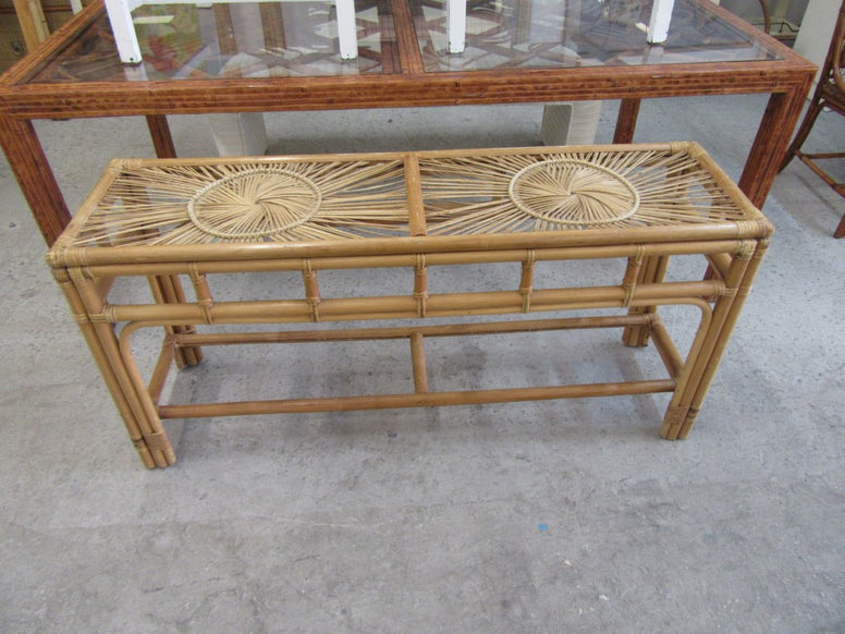 Medallion Style Bamboo Console